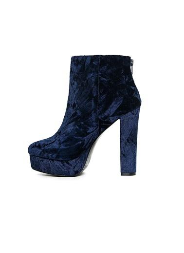 Platform Kalın Topuklu Kadife Ayakkabı-Aldo